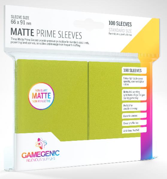 Gamegenic: Standard Size Matte Prime Sleeves - Lime (100)