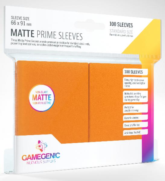 Gamegenic: Standard Size Matte Prime Sleeves - Orange (100)