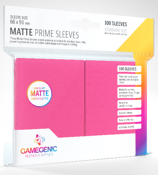 Gamegenic: Standard Size Matte Prime Sleeves - Pink (100)