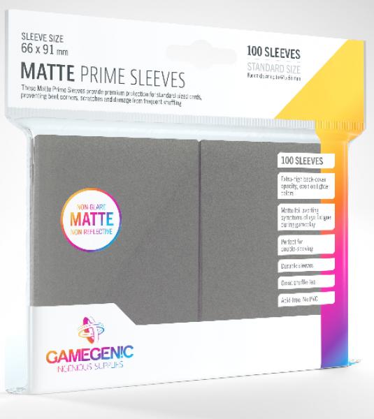 Gamegenic: Standard Size Matte Prime Sleeves - Dark Grey (100)