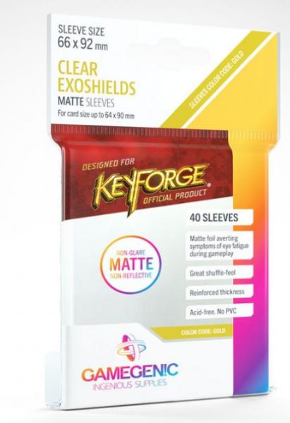 KeyForge: Matte Sleeves - Clear Exoshields (40)