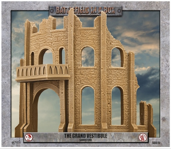 Battlefield in a Box: Gothic Battlefields - Grand Vestibule - Sandstone (x1) - 30mm