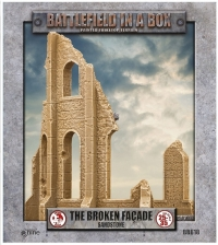 Battlefield in a Box: Gothic Battlefields - Broken Facade - Sandstone (x2) - 30mm