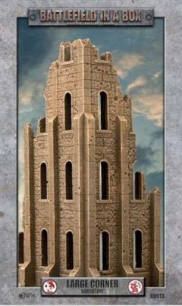 Battlefield in a Box: Gothic Battlefields - Large Corner - Sandstone (x1) - 30mm