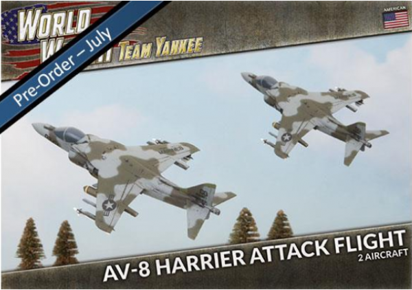 Team Yankee: (USA) AV-8 Harrier Attack Flight (x2 Plastic)