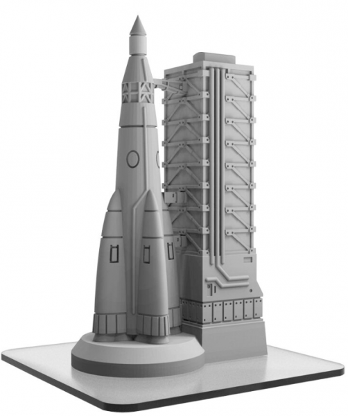 Monsterpocalypse: Rocket Gantry Building (1) (resin)