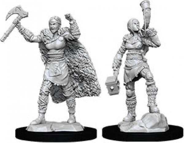 D&D Nolzurs Marvelous Unpainted Minis: Wave 12 - Female Human Barbarian
