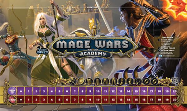 Mage Wars Academy: Priestess vs Warlock Playmat