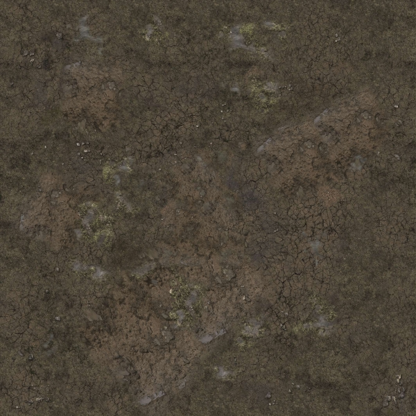 Battle Systems: Muddy Streets Gaming Mat 3'x3'
