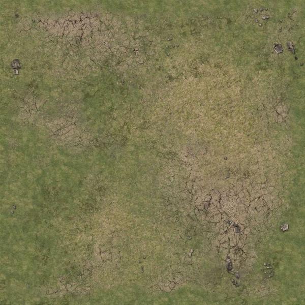 Battle Systems: Grassy Fields Gaming Mat 2'x2' v.2