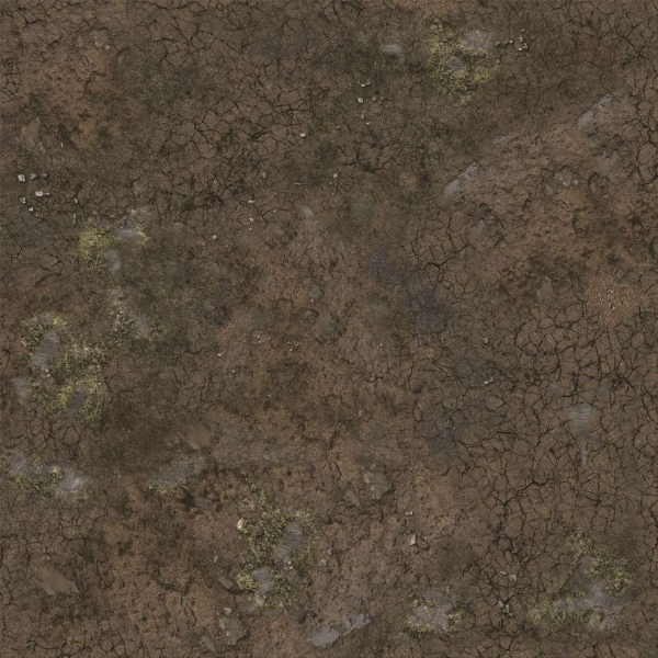 Battle Systems: Muddy Streets Gaming Mat 2'x2'