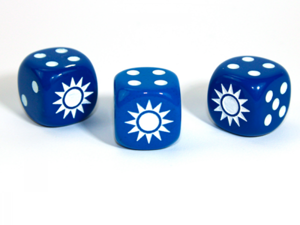 Chessex Choice Dice: Axis and Allies China d6 - Opaque Blue/White (1)