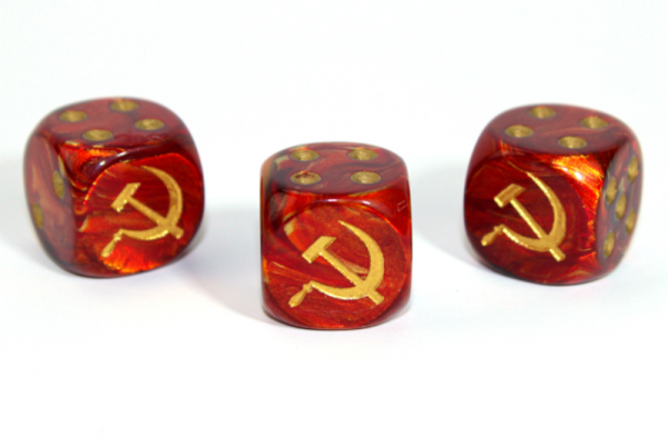Chessex Choice Dice: Axis and Allies Russian d6 - Scarab Scarlet/Gold (1)