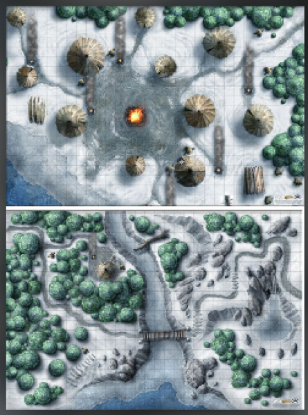 D&D: Icewind Dale Encounter Map Set (2x 20''x30'')
