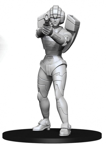 WizKids Transformers Deep Cuts Unpainted Miniatures: Arcee (1)