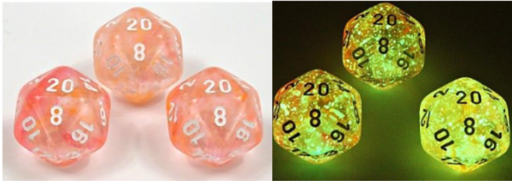 Chessex Lab Dice 4: Nebula Polyhedral  Supernova/White Luminary 7-Die Set [Limited/Allocated]