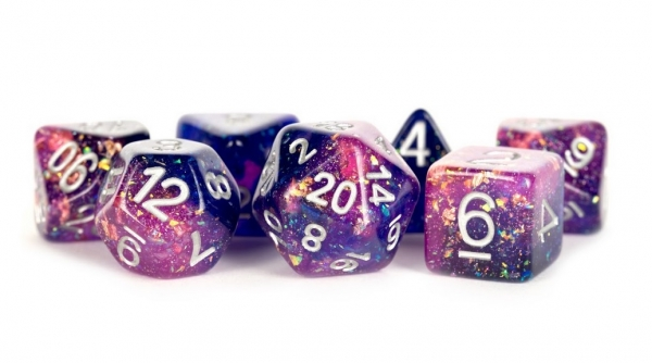 Polyhedral Dice Set: (Resin) Eternal Dice Set - Purple/Blue (7 die set)