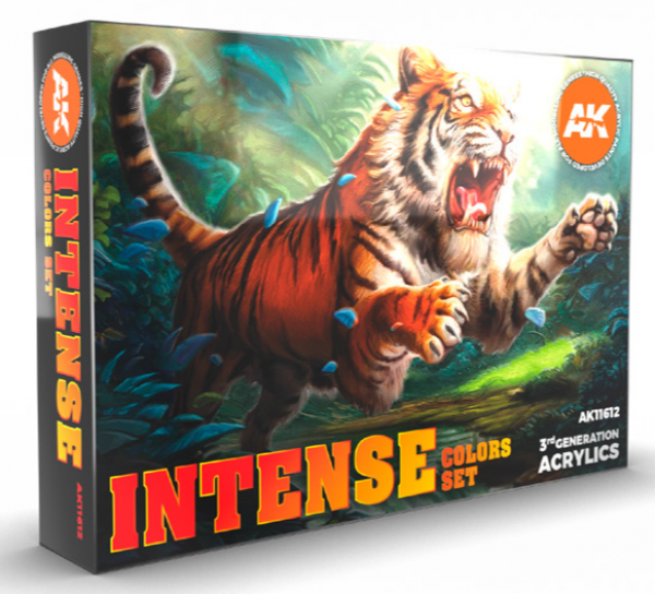 AK-Interactive: 3rd Gen Acrylics - Intense Colors Acrylic Paint Set (Box of 6 Paints)