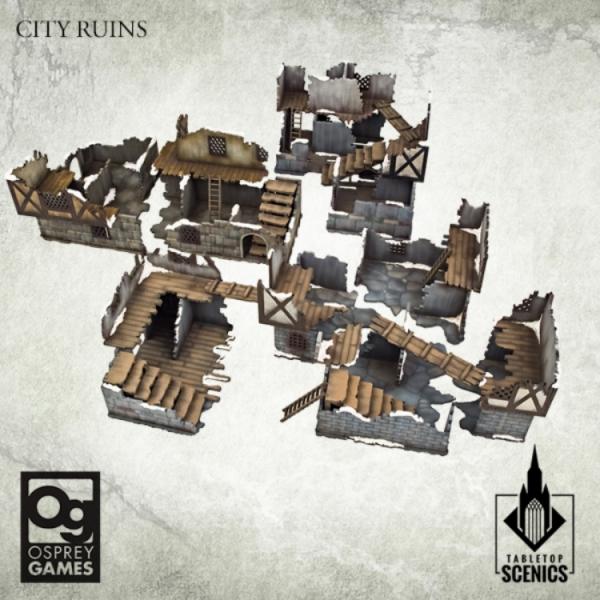Kromlech Tabletop Scenics: City Ruins [Frostgrave]
