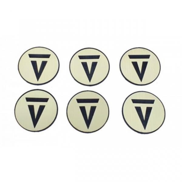 Game Accessory: Premium Vanguard Tactics Objective Marker Set (1-6)