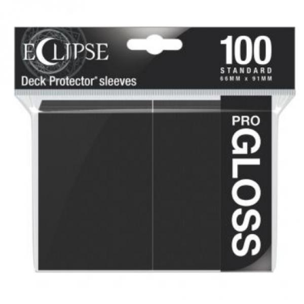 Ultra Pro: Eclipse Gloss Standard Sleeves - Jet Black (100)