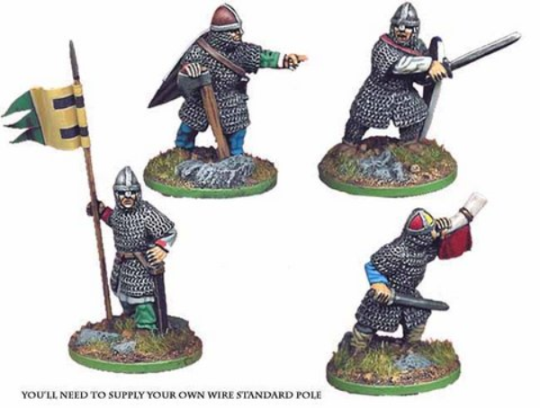 Crusader Miniatures: Norman Infantry Command (4)