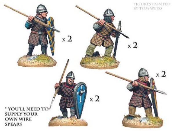 Crusader Miniatures: Norman Spearmen in Quilted Armour (8)