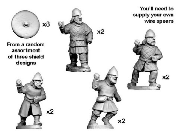 Crusader Miniatures: Bondi with Spears (8)