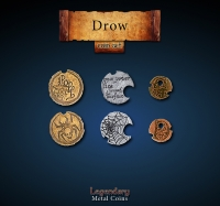 Game Accessories: Drow Coin Set