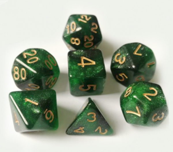 RPG Dice Set: Emerald Green Dice Set