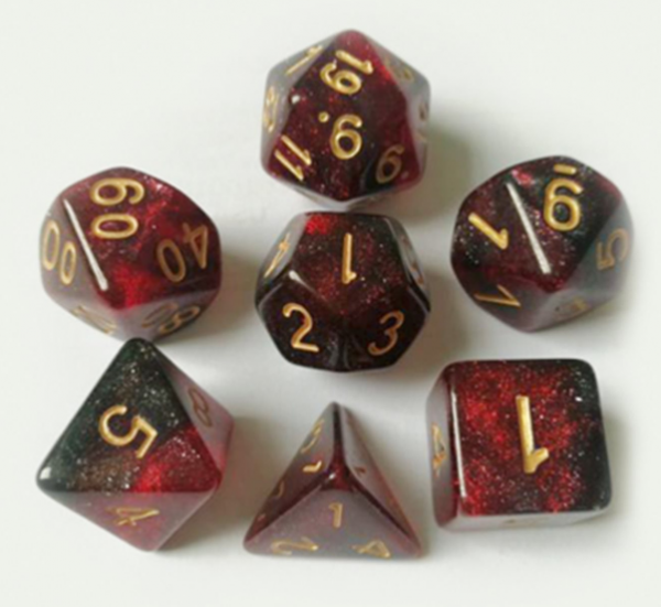 RPG Dice Set: Ruby Red Dice Set
