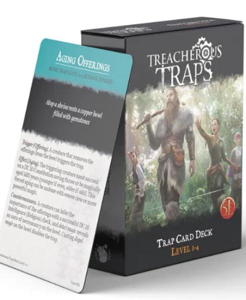 RPG Accessory: Treacherous Traps CR 1-4 Deck (5E)