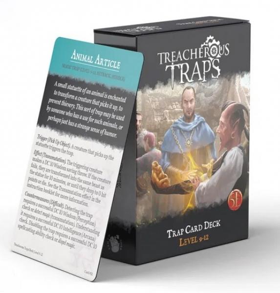 RPG Accessory: Treacherous Traps CR 9-12 Deck (5E)
