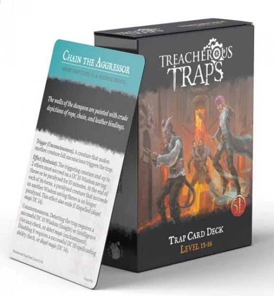 RPG Accessory: Treacherous Traps CR 13-16 Deck (5E)