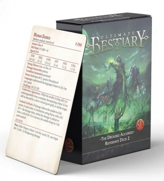 D&D 5th Edition: The Dreaded Accursed Reference Deck #2 (5E)