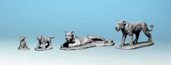 28mm Modern: North Star Africa - Lioness and Cub (4)