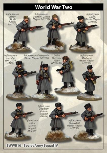 28mm World War II: (Soviet) Soviet Army Squad IV