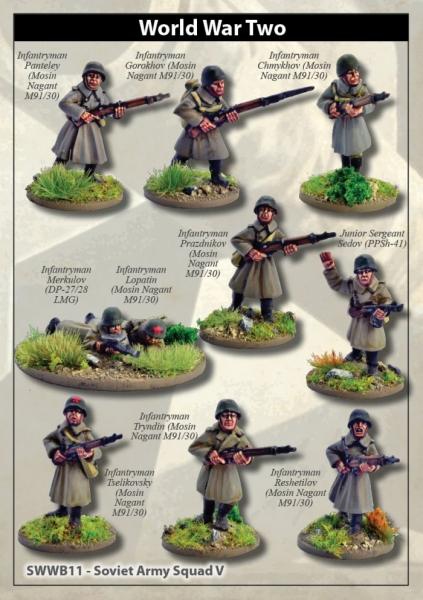 28mm World War II: (Soviet) Soviet Army Squad V