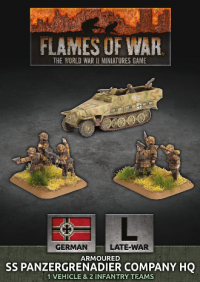Flames Of War (WWII): (German) Armoured SS Panzergrenadier Company HQ (Plastic)