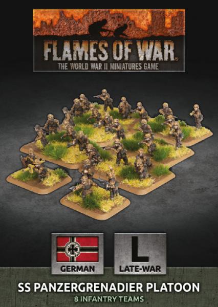 Flames of War: (German) SS Panzergrenadier Platoon (30 figs Plastic)