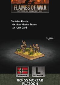 Flames of War: (German) 8cm SS Mortar Platoon (x6 Plastic)