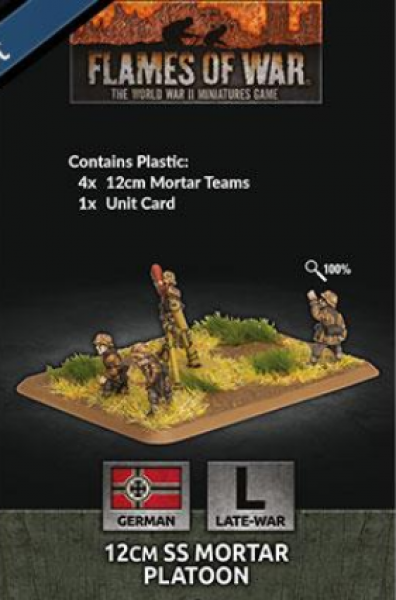 Flames of War: (German) 12cm SS Mortar Platoon (x4 Plastic)