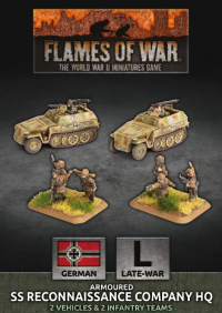 Flames Of War (WWII): (German) SS Reconaissance Company HQ (Plastic)