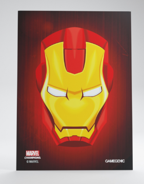 Gamegenic: Marvel Champions Art Standard Size Sleeves - Iron Man (50)