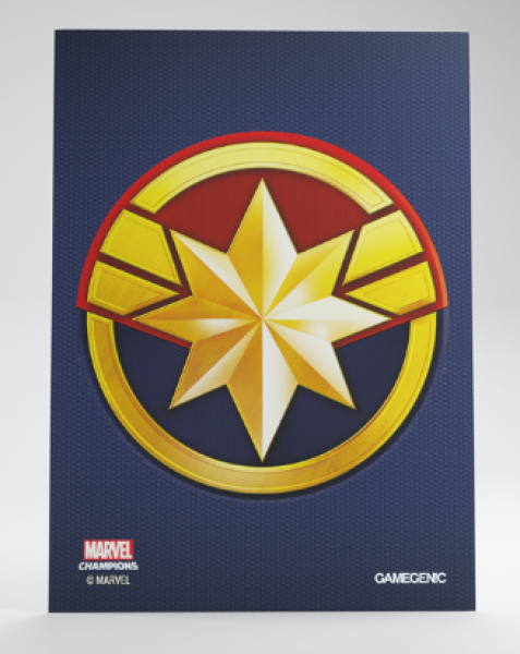Gamegenic: Marvel Champions Art Standard Size Sleeves - Captain Marvel (50)