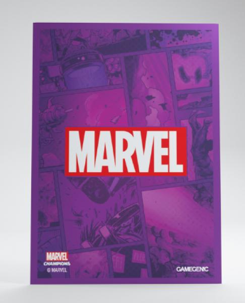 Gamegenic: Marvel Champions Art Standard Size Sleeves - Purple Marvel Logo (50)