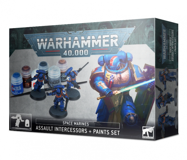WH40K: Space Marines Assault Intercessor + Paint Set