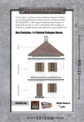 Battlefield in a Box: European House - Cologne (x1) - WWII 15mm