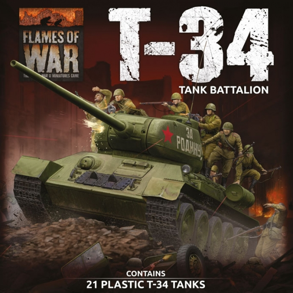 Flames Of War (WWII): Soviet LW T-34 Army Deal (Plastic)