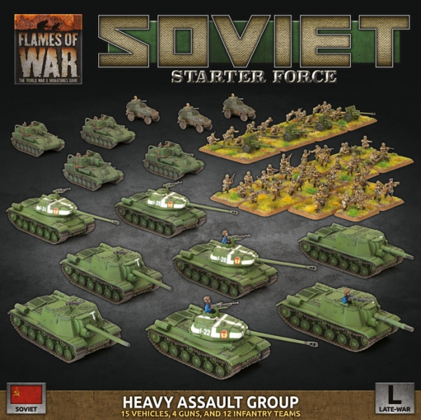 Flames Of War (WWII): Soviet LW 'Heavy Assault Group' Army Deal (Plastic)
